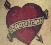 Internet love tattoo
